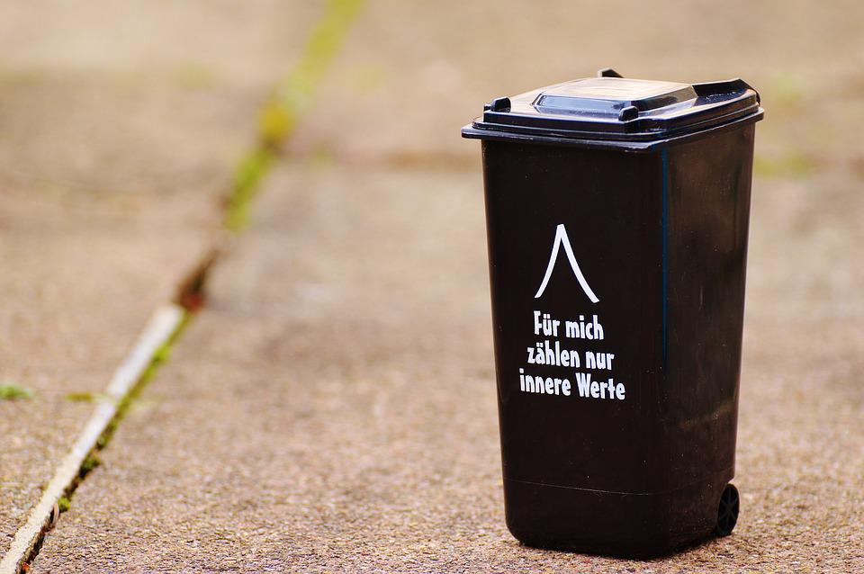 Dustbin, Funny, Saying, Garbage Can, Ton, Bucket, Black