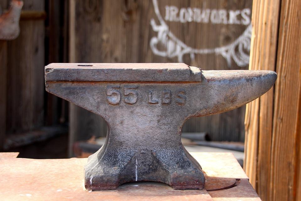 Anvil, Ironworks, Blacksmith, Forge, Tool, Rust