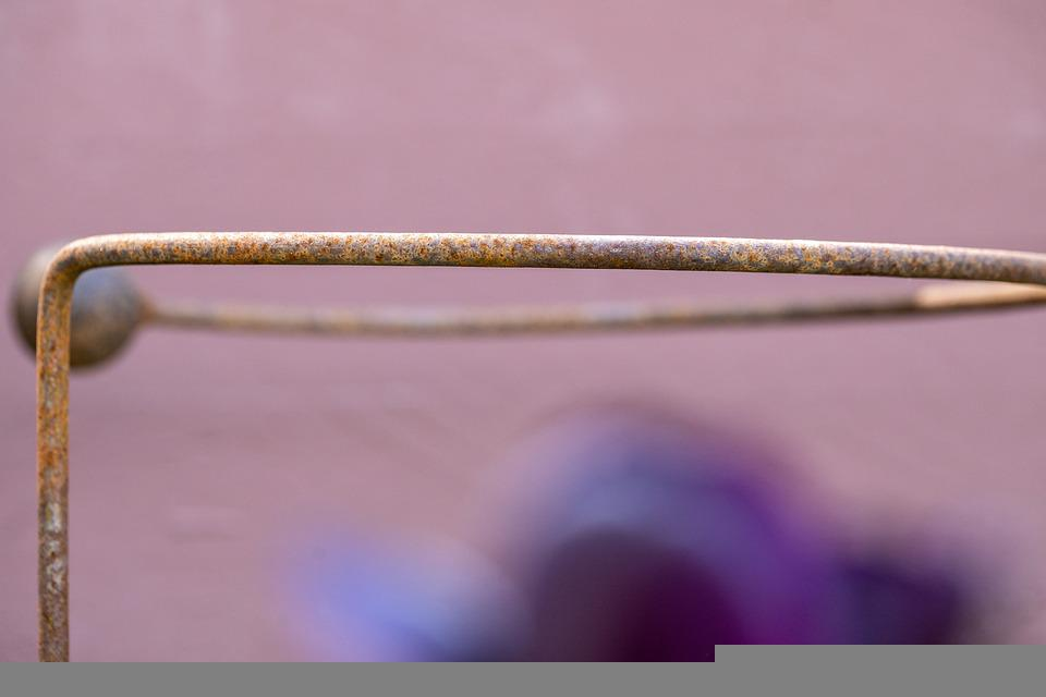 Metal, Rust, Structure, Tool, Abstract, Purple, Flower