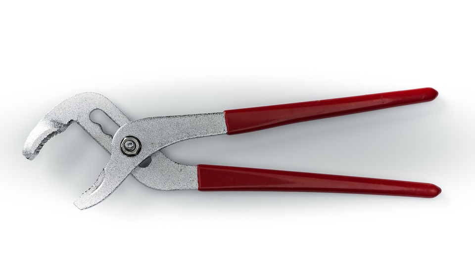 Plumber Wrench, Pipe Wrench, Tool, Plumber, Pliers, Red