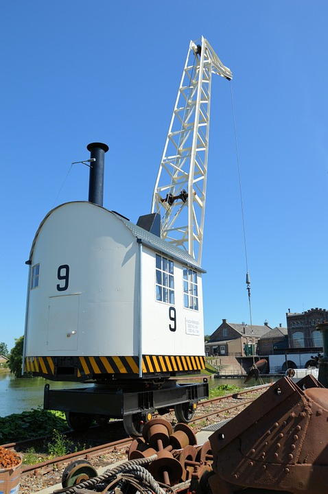 Crane, Halyard, History, Steam, Rails, Tool, Factory