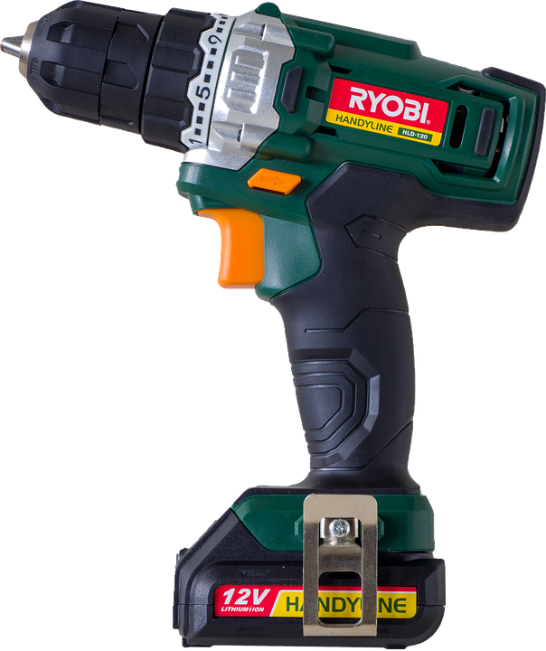 Drill, Tool, Screwdriver, Battery, Isolated, Cordless