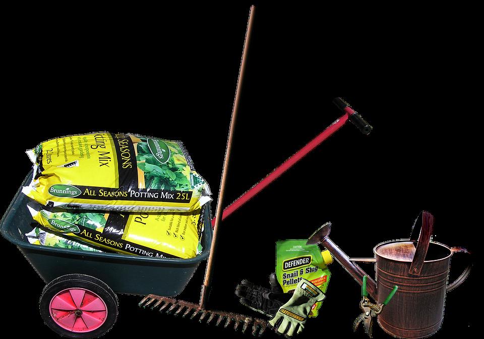 Gardening, Equipment, Tools, Work, Wheelbarrow