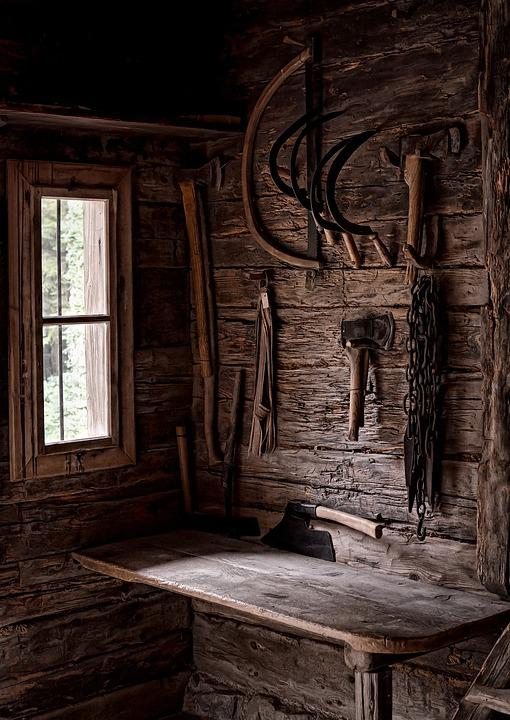 Cottage, Tools, Sickle, Ax, Saw, Old, History