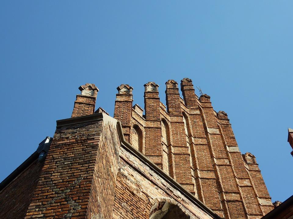 Brick, Façades, Top, Architecture, Church, Chełmno
