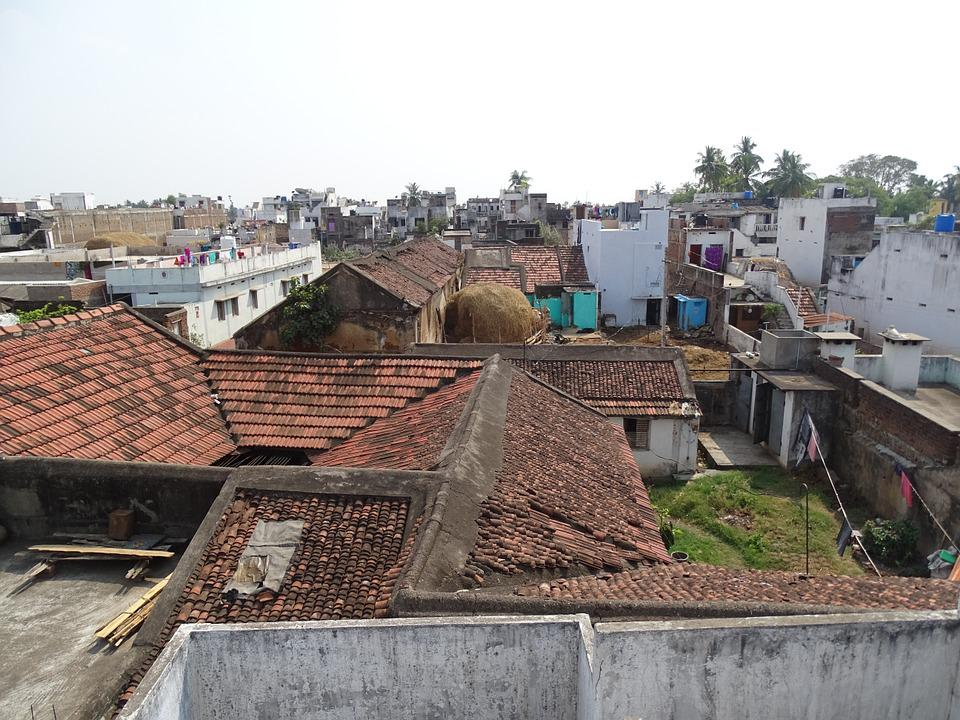 Village, Asia, House, India, Homes, Top, Country