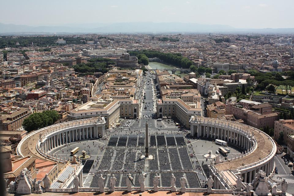 Rome, Italy, Famous, Vatican, Place, Roof, Top