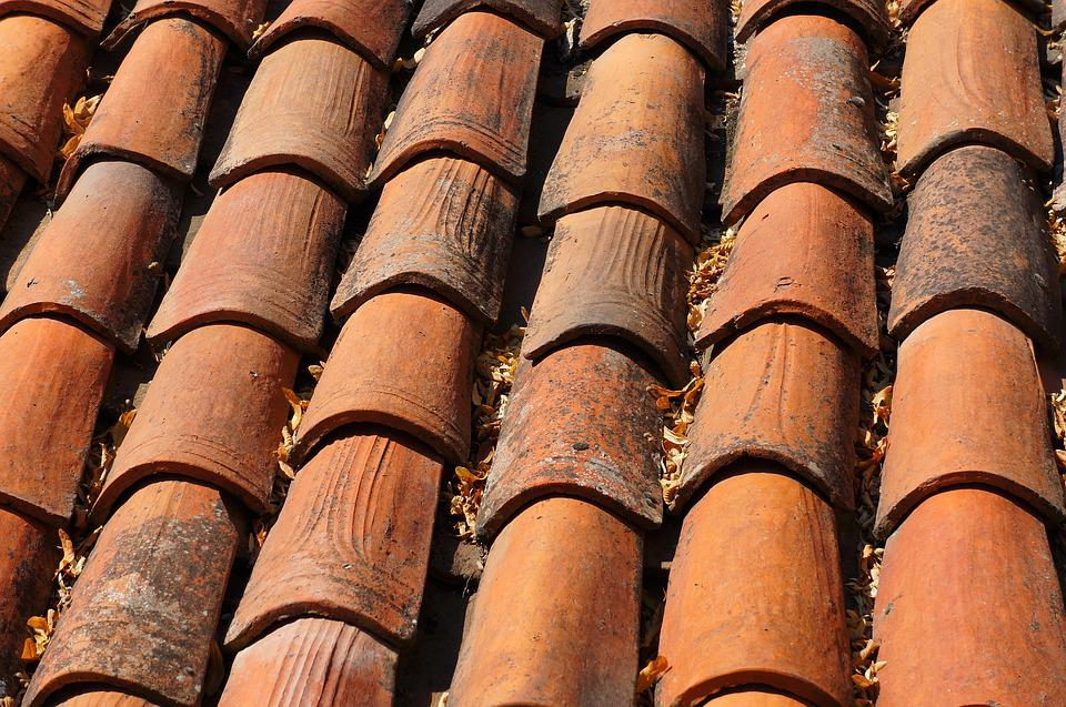 Roof Tile, Roof, Construction, Texture, Slate, Top