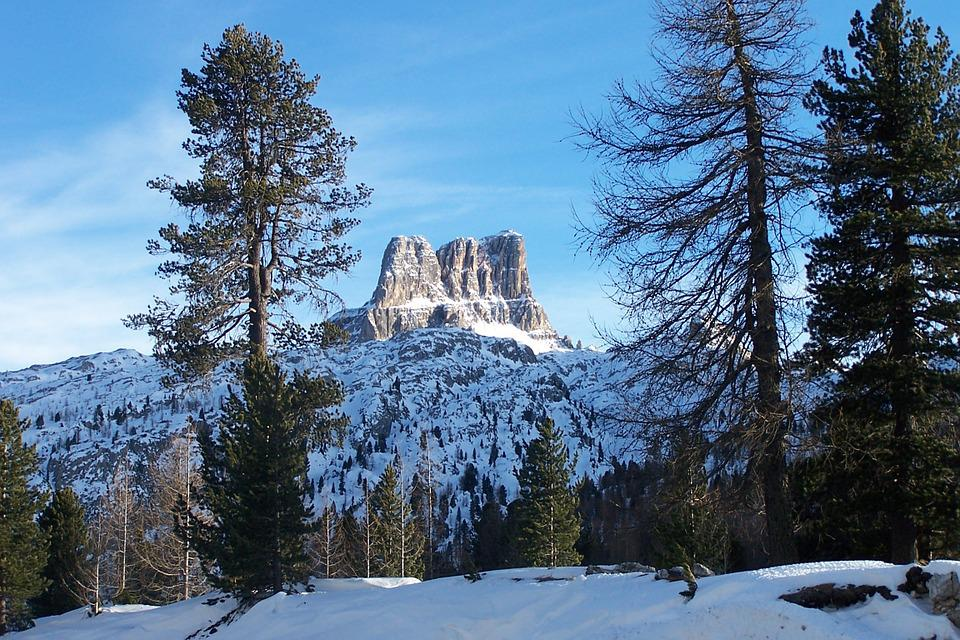 The Dolomites, Cortina D'ampezzo, Italy, Top Winter