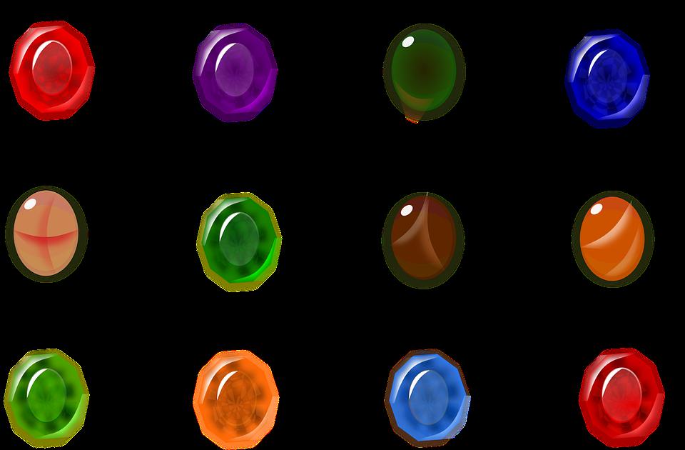Stones, Ruby, Emerald, Garnet, Topaz, Amethyst, Onyx