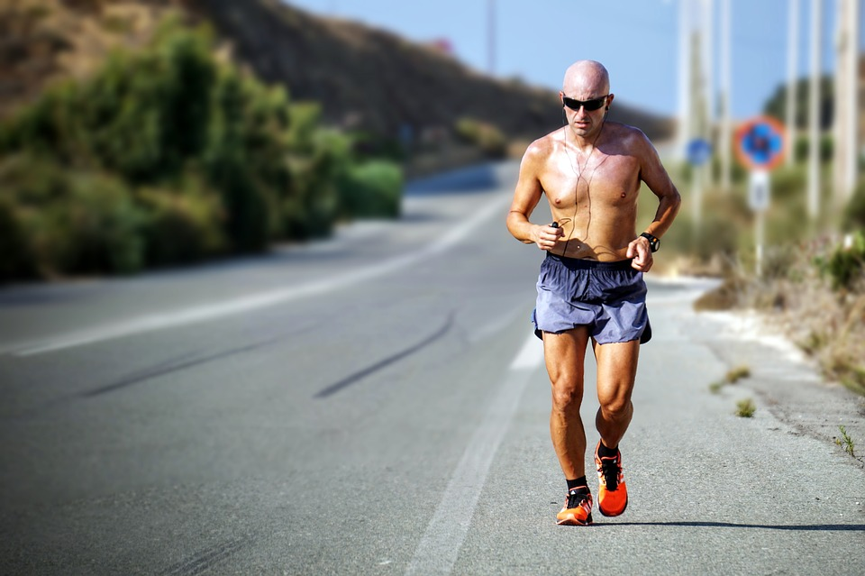 Exercise, Fitness, Jogging, Man, Person, Road, Topless