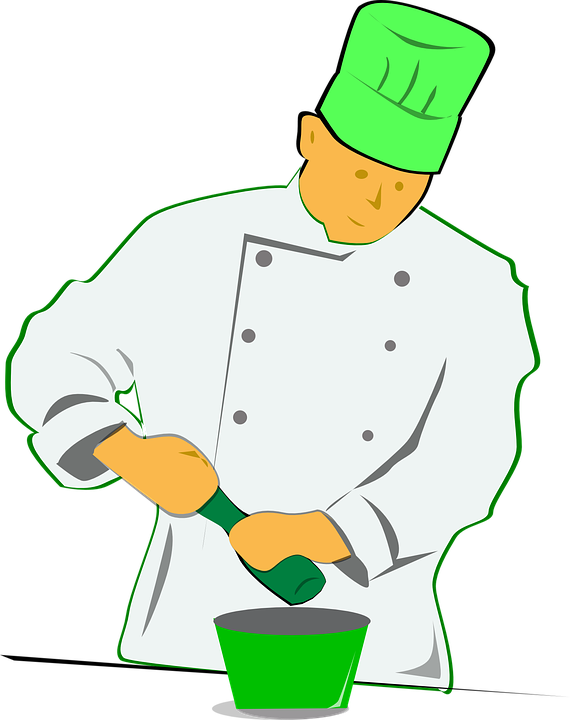 Chef, Pepper Mill, Cooking, Seasoning, Toque