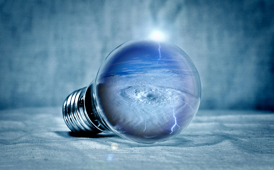 Tornado, Clouds, Selva Marine, Light, Pear, Light Bulb