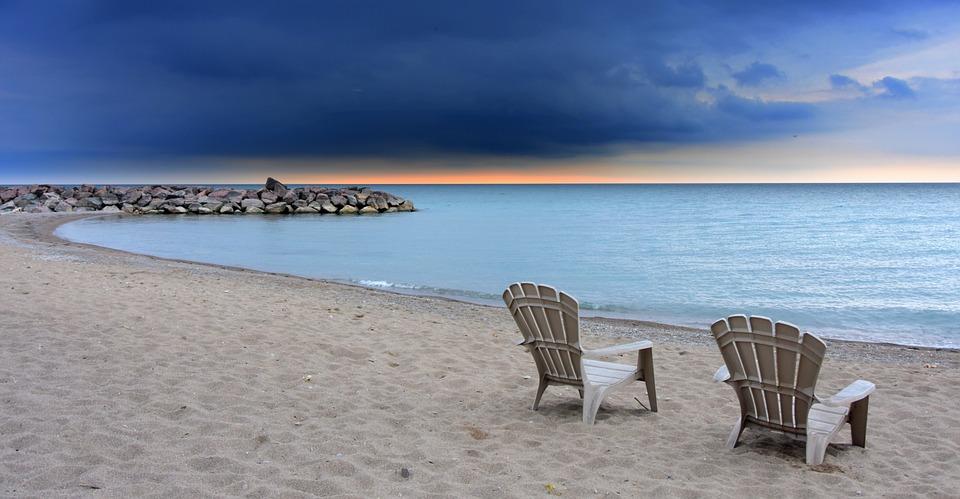Toronto, Beach, Chairs