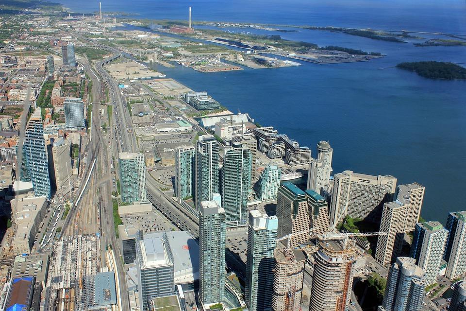 Toronto, Skyscrapers, Cityscape, City, Metropole
