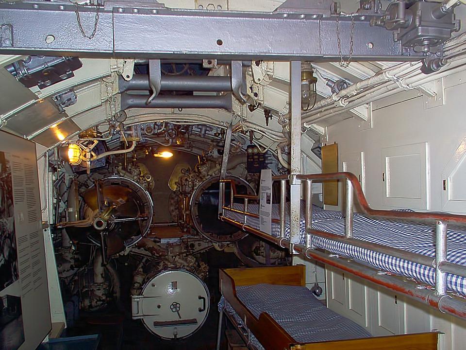 Bunks, Beds, Torpedo Tubes, Submarine, European Mink