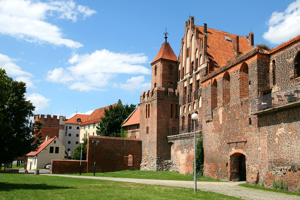 Toruń, Poland, Old, City, Castle, Building