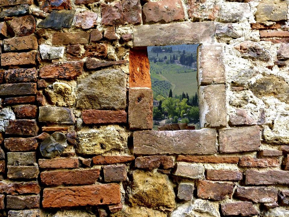 Toscana, Masonry, Wall, Brick Stones, Old Brickwork