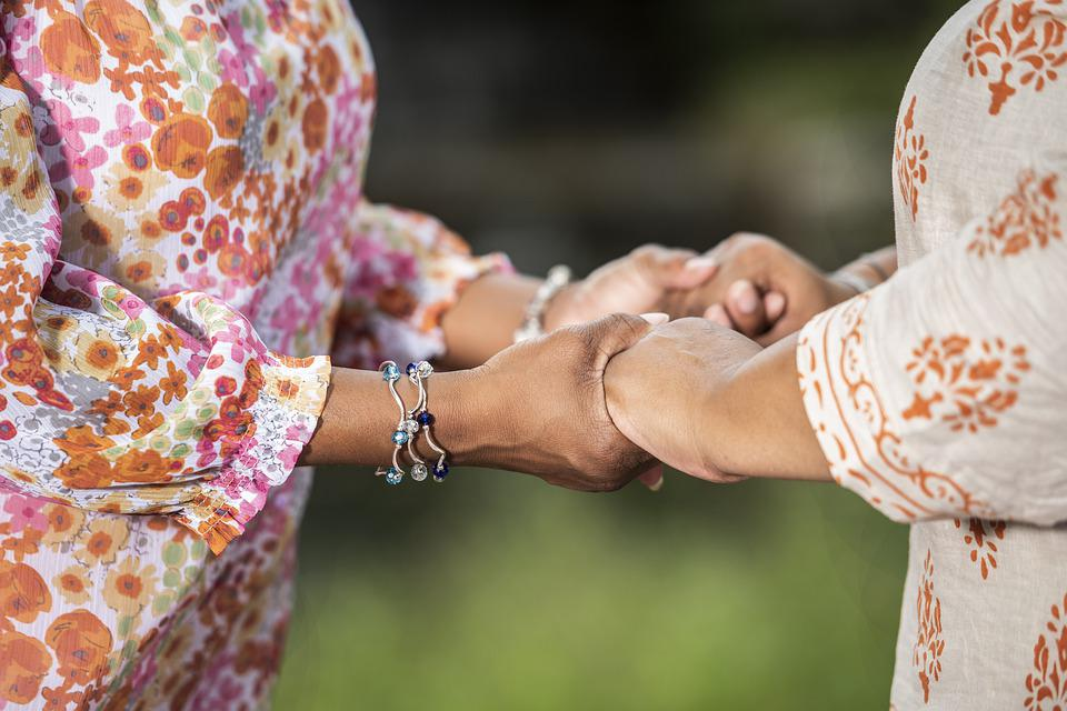 Together, Hands, Prayer, Touch, Relationship, Women