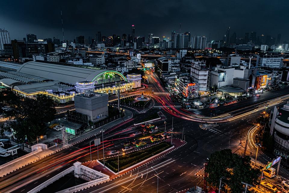 City, Bangkok, Night, City Scape, Tour, Thailand