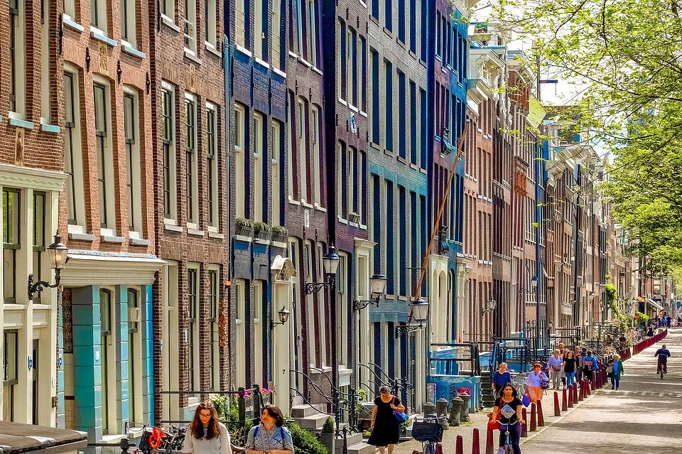 free photo tourism amsterdam architecture street city max pixel