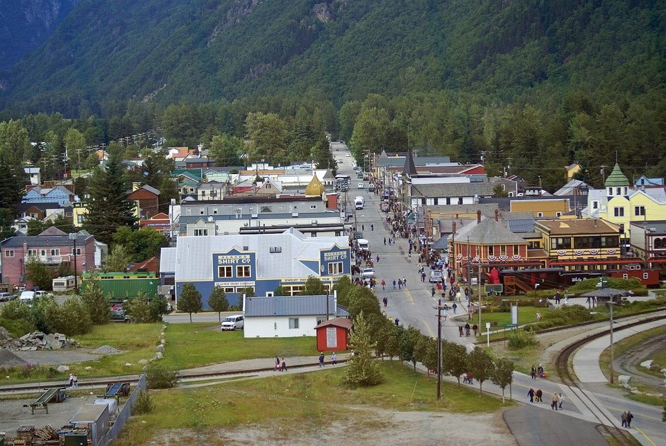 Alaska, Skagway, Town, Village, Buildings, Tourism