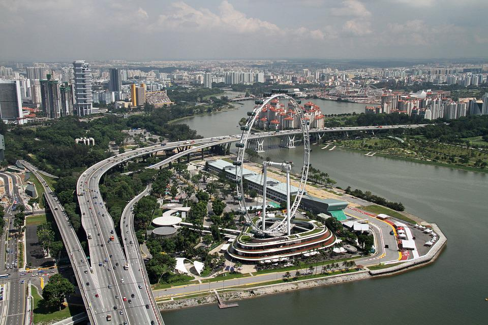 Singapore, Flyer, Architecture, Bay, Modern, Tourism