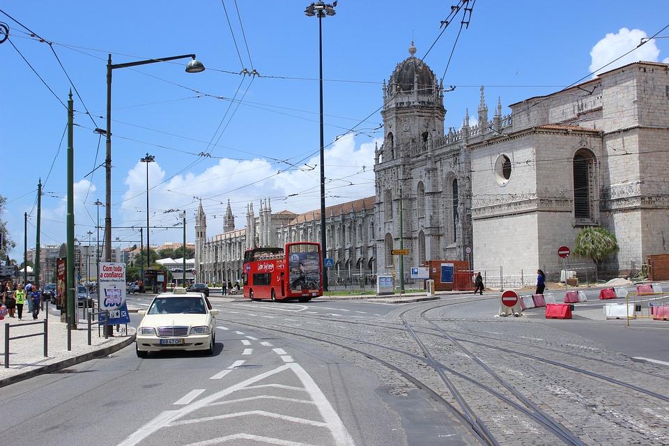 Lisbon, Street, City, Tourism, Road