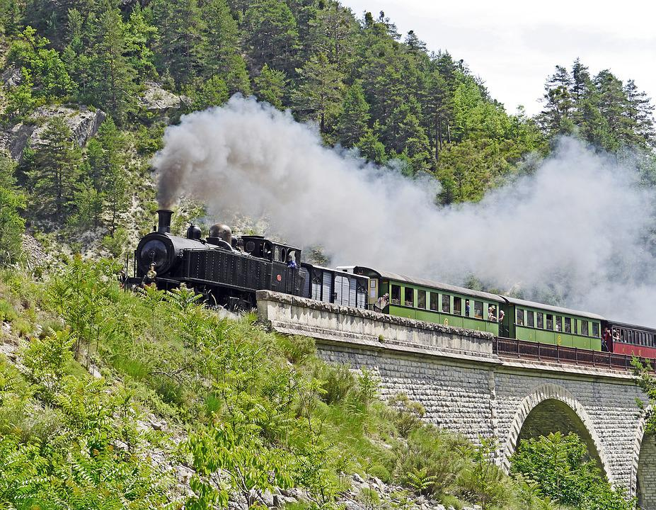 Steam Locomotive, Nostalgia Ride, Tourism, Viaduct