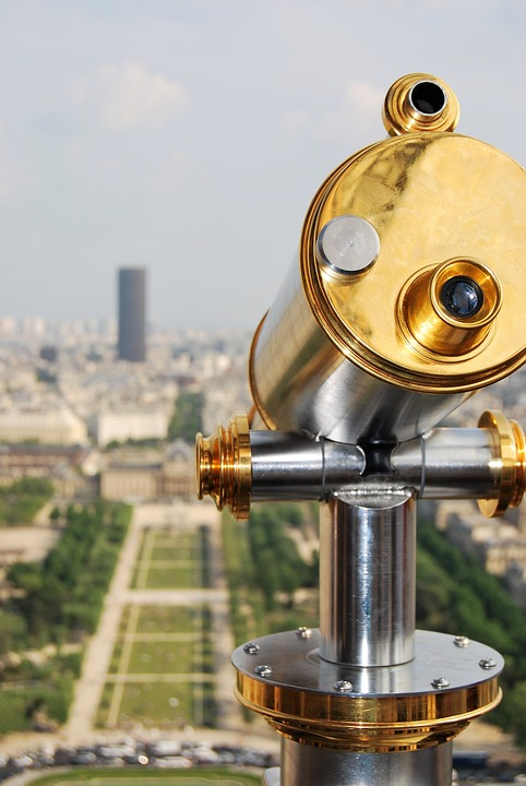 Binoculars, Eiffel Tower, Paris, Champ De Mars, Tourism