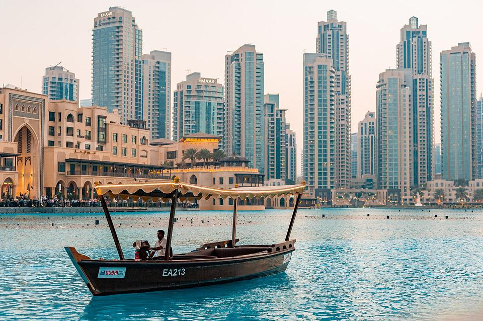 Free photo Tourism People Downtown Buildings Dubai Uae City