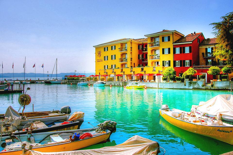 Sirmione, Garda, Italy, Vacations, Port, Tourism