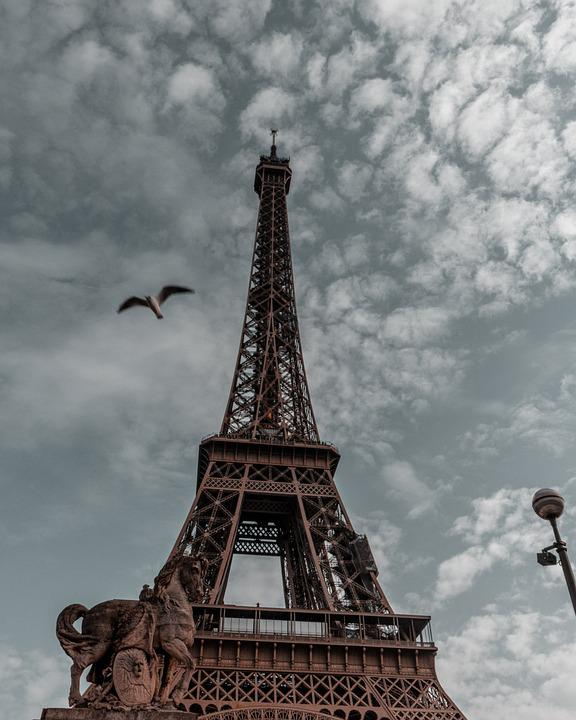Tower, Sky, Architecture, Travel, Tourism, Eiffel Tower