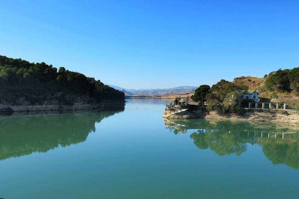 Lake, Jet, Malaga, Spain, Tourism, Water, Landscape