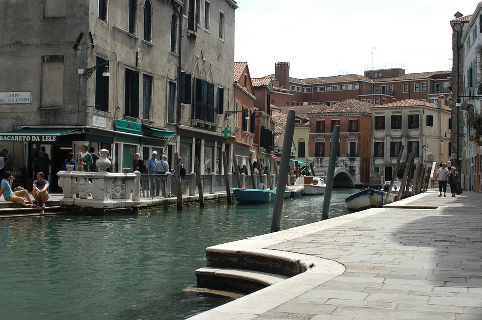 Italy, Veneto, Venice, Channel, Water, Boats, Tourism