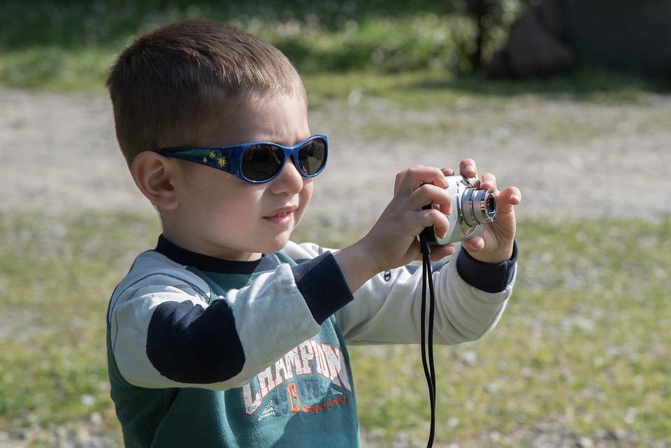 Boy, Photographer, Camera, Child, Tourist, Passion
