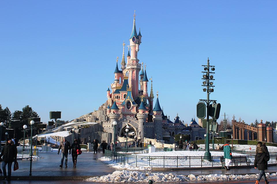 Disneyland, Castle, Disney, Europe, Tourist