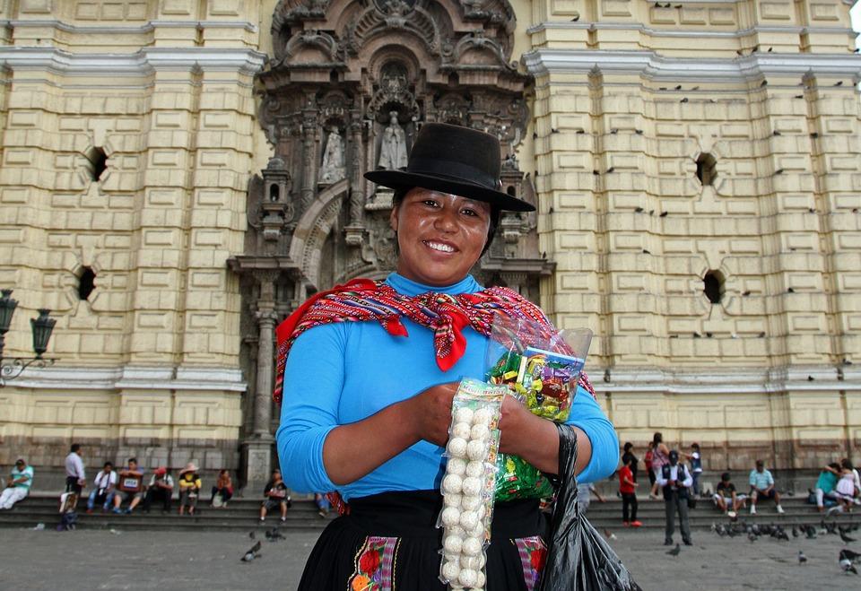 Lima, Peru, Woman, Travel, Tourist, Plaza, Tourism