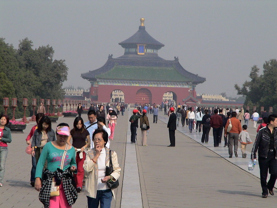 Human, China, Tourists, Beijing, Forbidden City