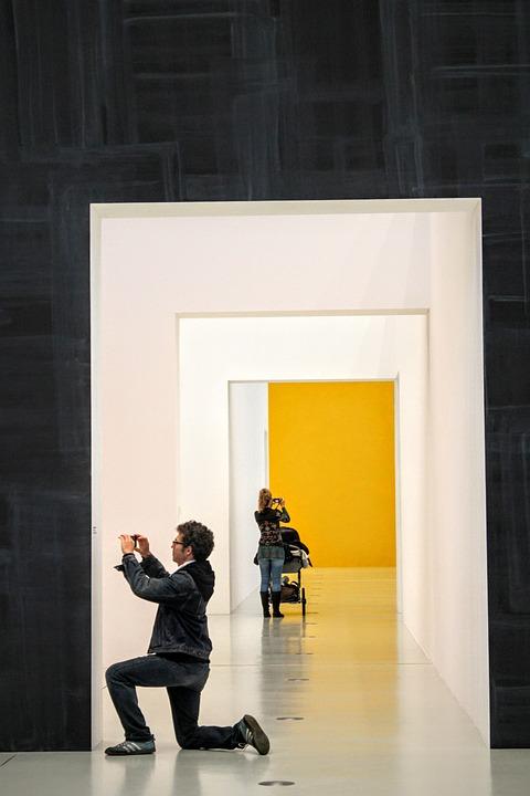 Art, Photographer, Tourists, Interior, Art Gallery