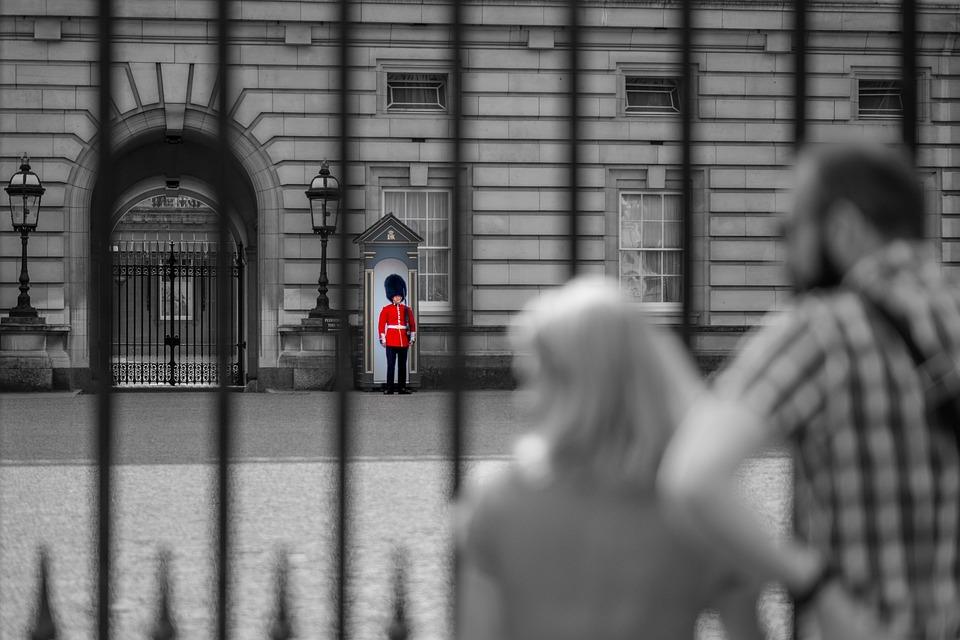 Buckingham, Palace, Guard, Tourists, London