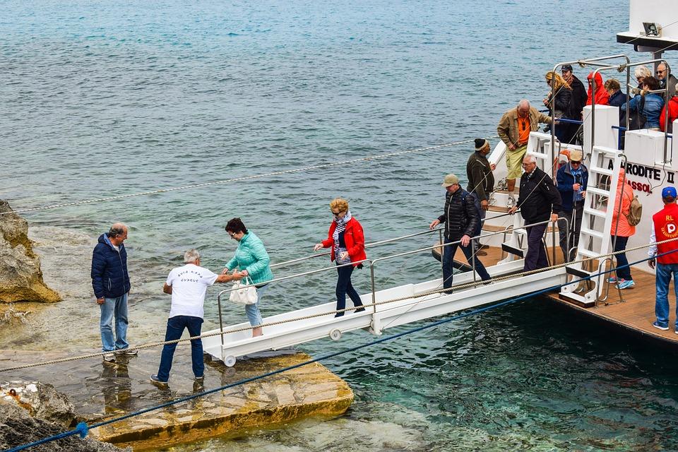 Debarkation, Cruise Boat, Tourism, Tourists, Vacation