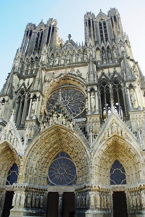 Reims, Cathedral, Portals, Tours, Facade, Porches