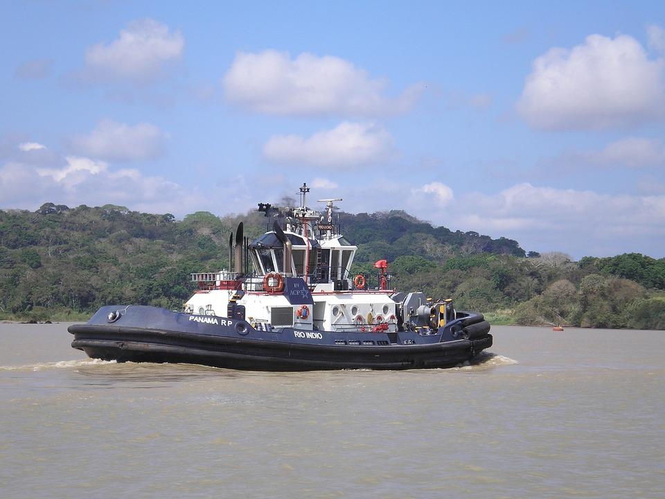 Tug, Panama Canal, Panama, Canal, Maritime, Tow