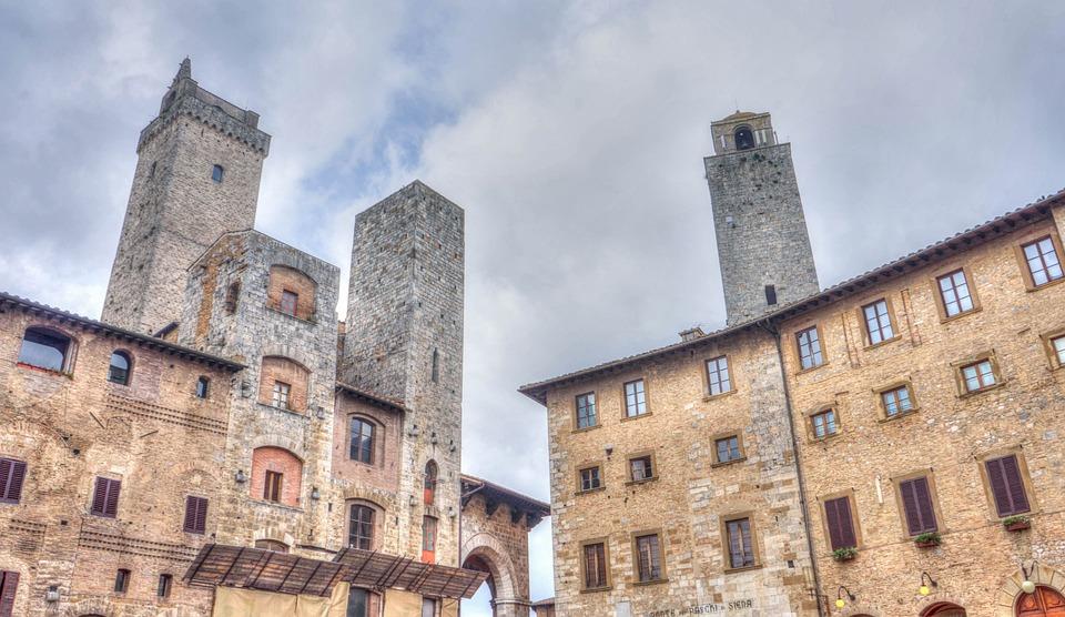 San Gimignano, Italy, Tuscany, Tower Architecture
