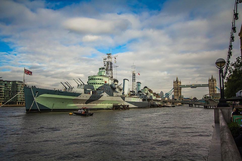 London, The Thames, Ship, Tower Bridge, Panorama