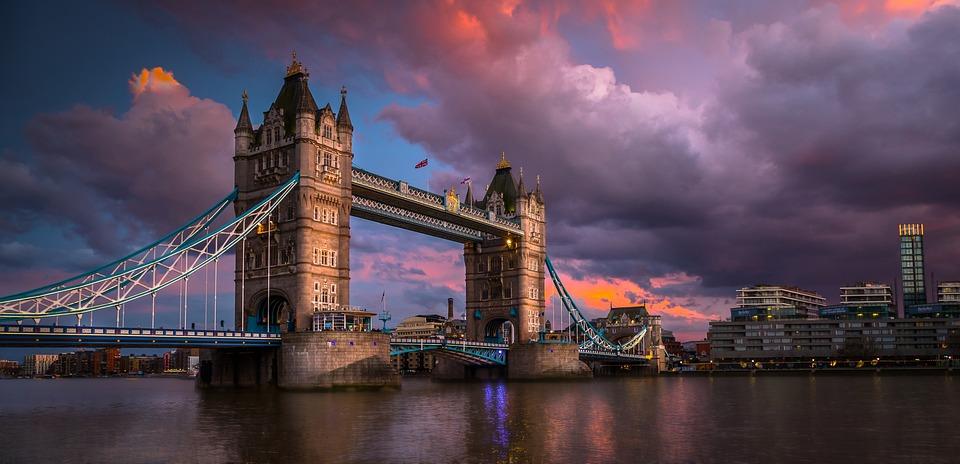 London, Tower, Bridge, Uk, City, Clouds, River, Thames