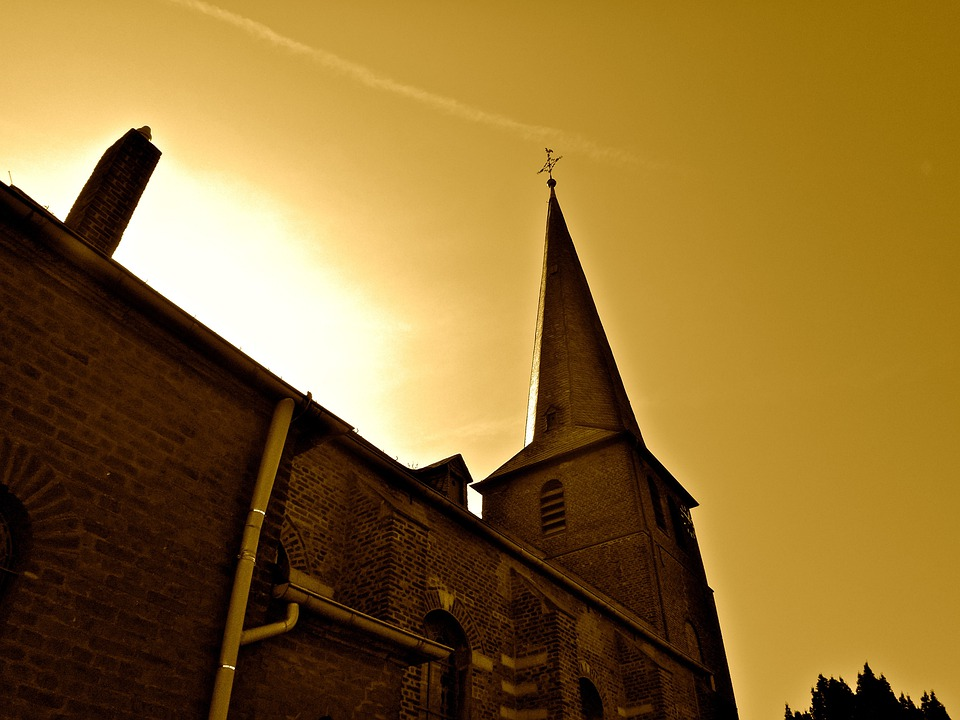 Church, Evening, Mood, Tower, Building, Perspective