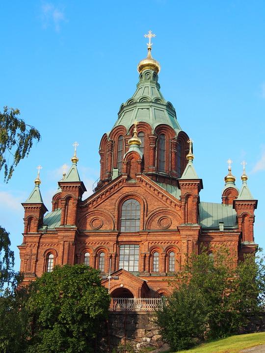 Church, Building, Tower, Finnish, Sky