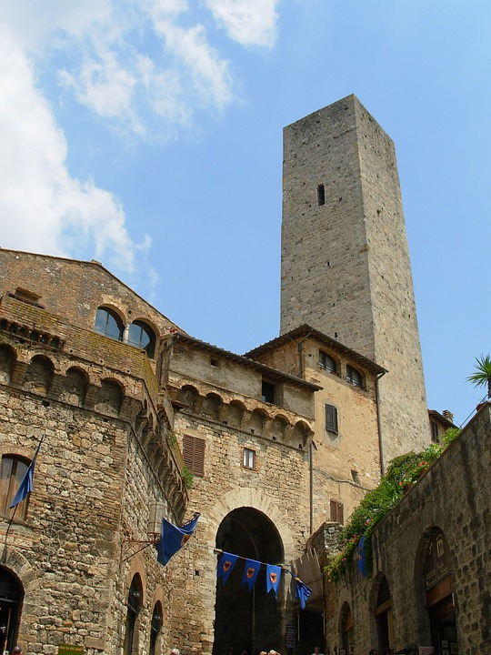 San Gimignano, Buildings, Architecture, Italy, Tower